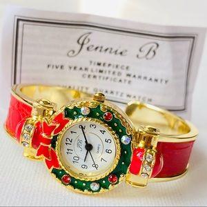 Vintage Jennie B Christmas Watch